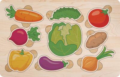 Дерев'яний пазл кольоровий. Овочі