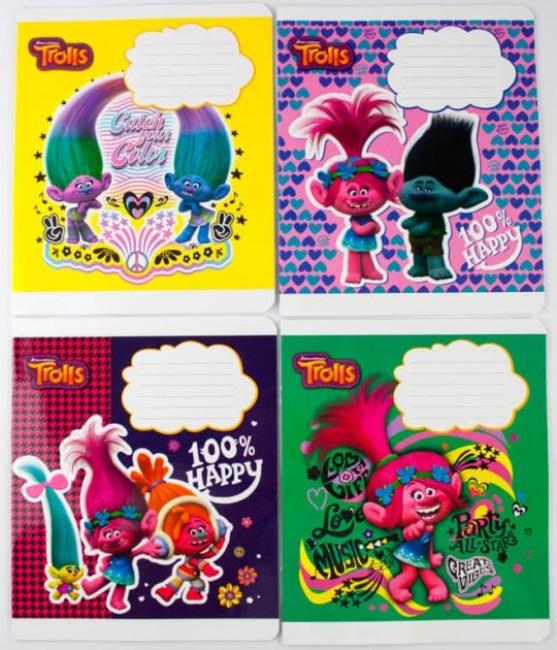 Комплект зошитів . Серія 'Троллі' (20 шт в комплекті)