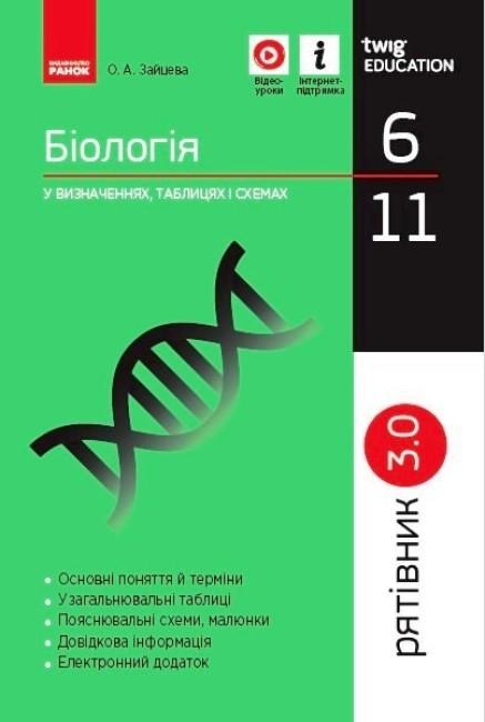 Рятівник 3.0. Біологія у визначеннях, таблицях і схемах. 6-11 класи