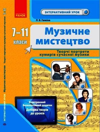 Музичне мистецтво. 7-11  класи. Творчі портрети кумирів сучасної музики.  Інтерактивний урок+QR