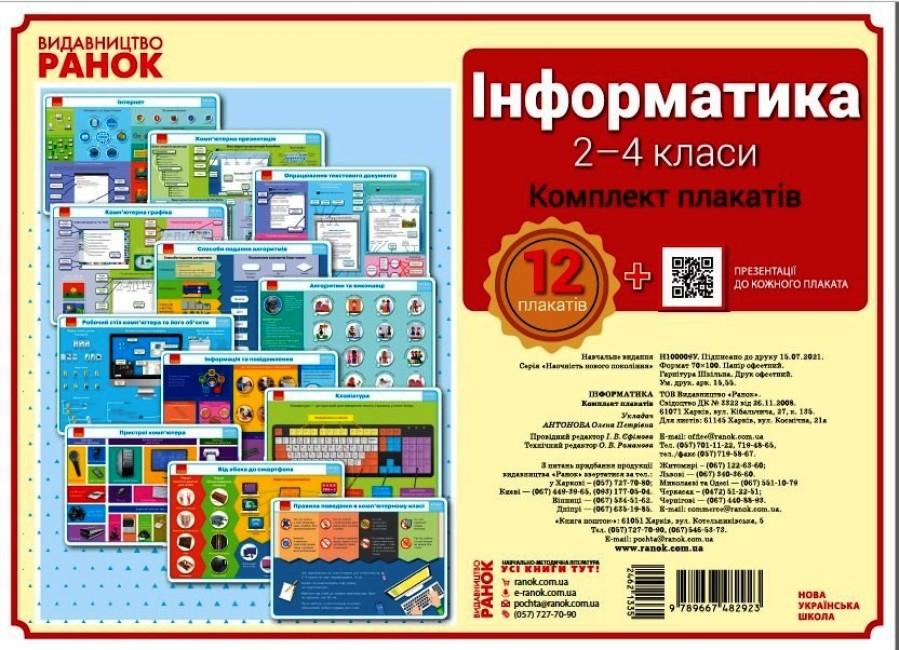 Інформатика. 2-4 класи. Комплект плакатів для початкової школи + CD диск