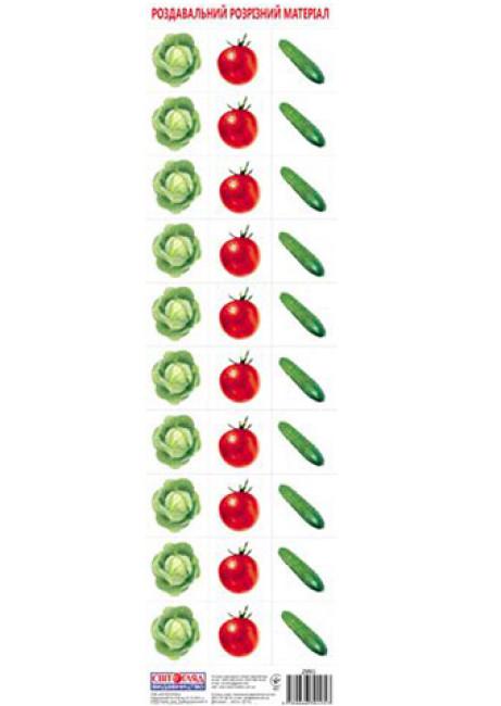 Роздавальний розрізний матеріал 'Овочі'