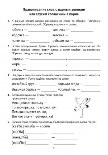 Русский язык. 3 класс. Тренажер