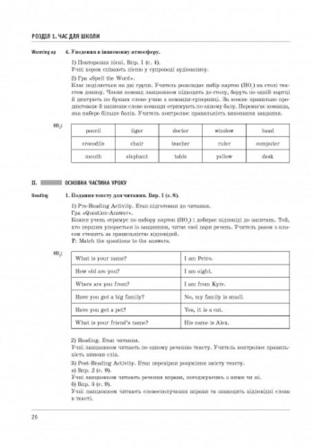 Англійська мова. 5 клас: плани-конспекти (до підручника О. Д. Карп'юк)