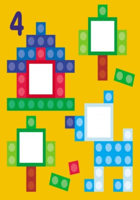 Мозаїка з наліпок. Для дітей від 3 років. Квадратики