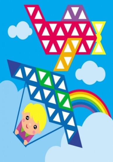 Мозаїка з наліпок. Для дітей від 4 років. Трикутники