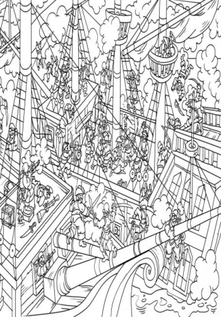 Знайди і розфарбуй: Пірати