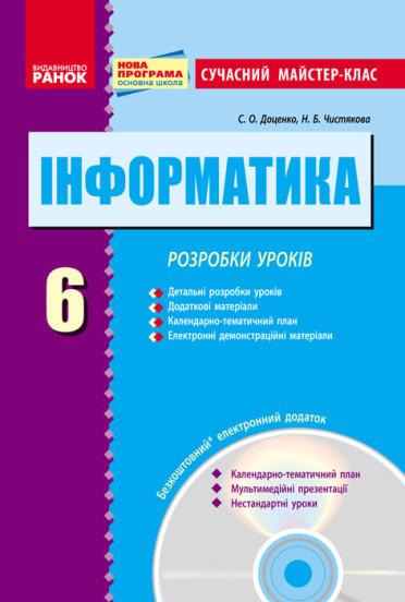 Інформатика. 6 клас. Розробки уроків + CD-диск
