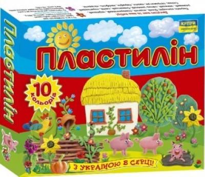 Пластилін 'Моя країна'. 10 кольорів. 140 г.