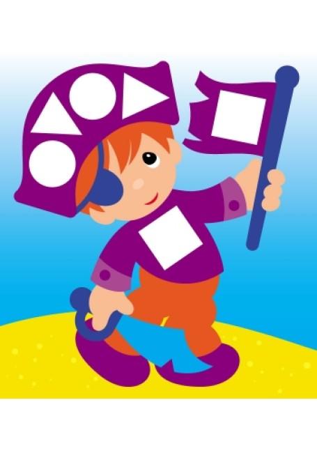 Мозаїка з наліпок. Для дітей від 3 років. Колір