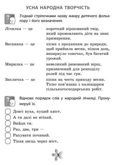 Літературне читання. 4 клас. Робочий зошит (для укр.шк.)
