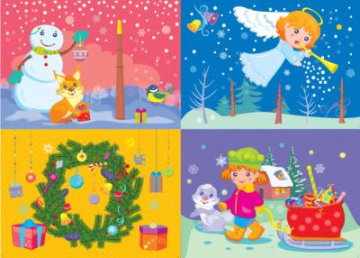 Об'ємна аплікація. Новий рік та Різдво