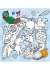 Любимые раскраски Деда Мороза. Пряничный домик