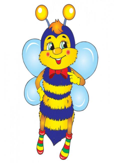 Міні рахунковий матеріал.Бджілки та квіточки