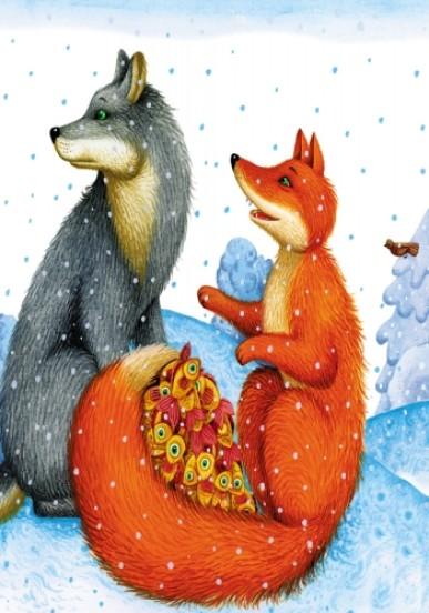 Лисичка и волк. Маленькие сказки