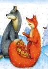 Лисичка та вовк. Маленькі казки