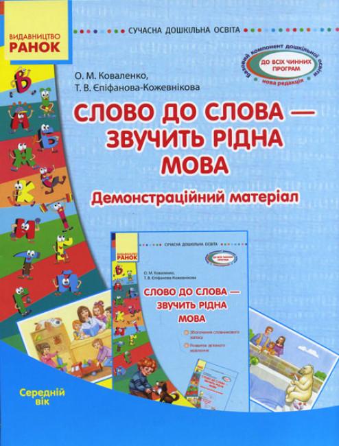 Сучасна дошкільна освіта. Слово до слова - звучить рідна мова.Середній вік