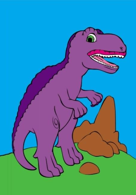 Подивись і розфарбуй. Динозаврики