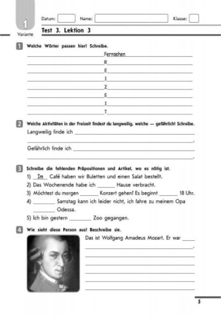 Німецька мова. 8 клас: тестовий зошит (до підручника «Німецька мова. 8 клас. H@llo, Freunde!» для 8 класу ЗНЗ (друга іноземна мова, 4-й рік навчання)