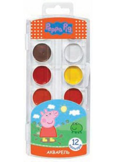 Фарби акварельні. 12 кольорів. Peppa Pig