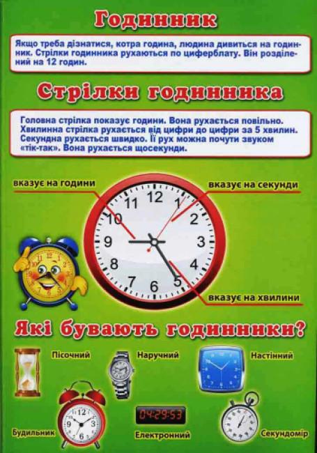 Інформаційні стенди для ДНЗ 'Вивчаємо час'