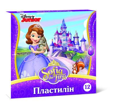 Пластилін. Принцеса Софія. 12 кольорів. 210г. Disney