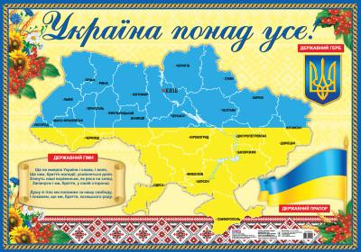 Плакат. Україна понад усе!