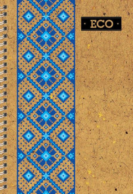 Блокнот 'Еко' А6: Серія  Вишиванка (80 аркушів, клітинка)