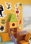 Наклейки для детской комнаты Зверополис. Disney