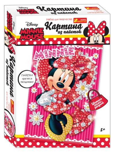Картинка из пайеток Дисней 'Минни Маус' (красная). Disney