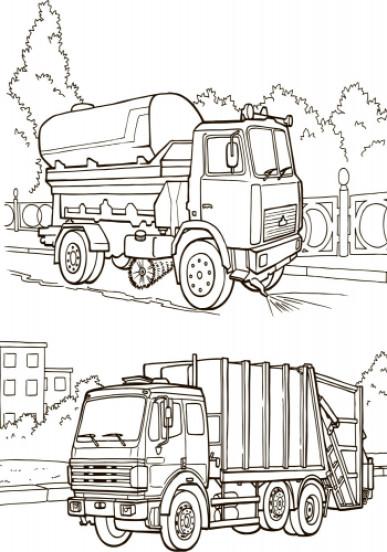Большая книга раскрасок. Транспорт