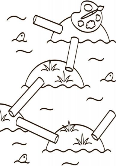 Водні розмальовки-розвивайки. Лабіринти