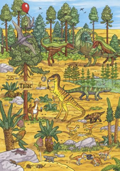 Мій великий віммельбух. Динозаври