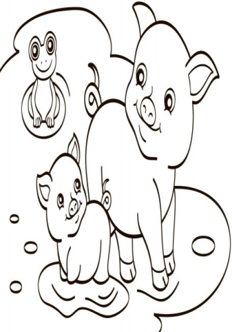 Водна розмальовка. Свійські тварини