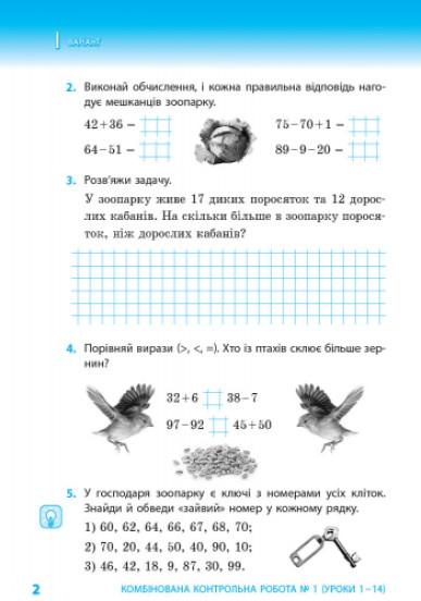 НУШ Математика. Тематичні діагностичні роботи. 2 клас