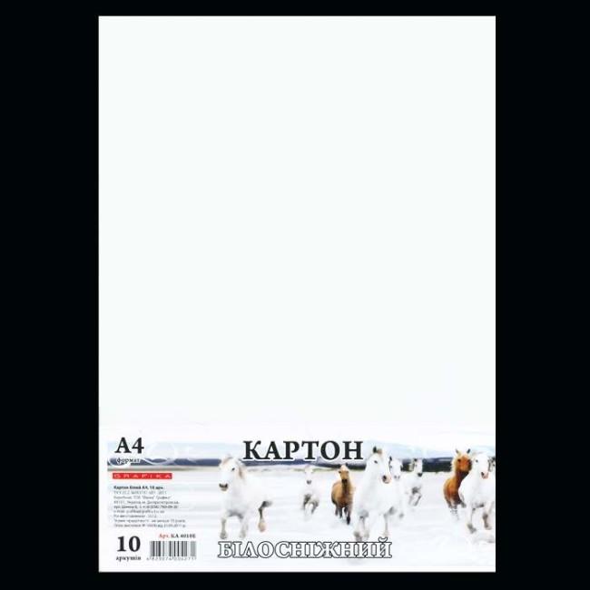 Белый картон А4, 10 листов
