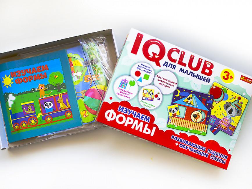 IQ-club для малышей. Учебные пазлы. Изучаем формы