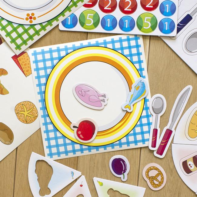 IQ-club для малышей. Учебные пазлы. Изучаем продукти питания