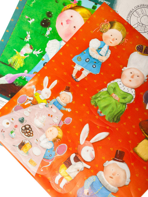 Интерьерные наклейки Алиса и фламинго. Гапчинская
