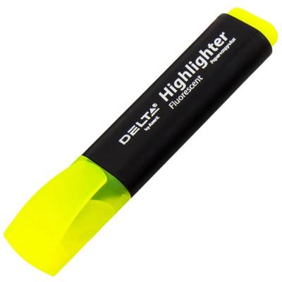 Маркер текстовый Delta 2501 Highlighter желтый