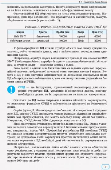 Інформатика : бази даних (модуль для учнів 10–11 класів, рівень стандарту)