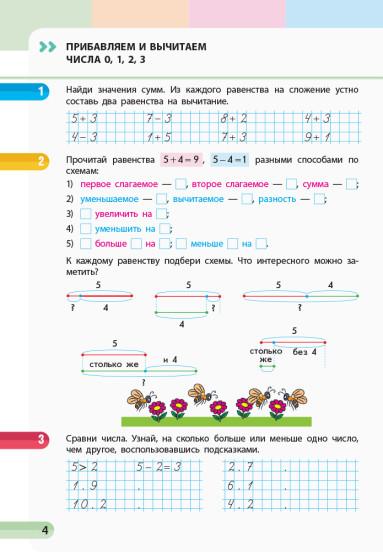 НУШ Математика. 1 класс. Учебная тетрадь. В 4 частях. ЧАСТЬ 3