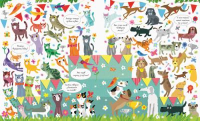 Подивись і знайди. Коти та собаки. Віммельбух