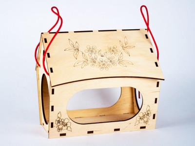 Дерев'яний 3D конструктор  «Годiвниця для пташок»