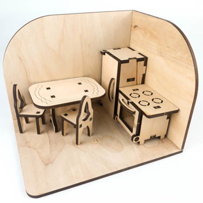 Кухня. Дерев'яний 3D конструктор