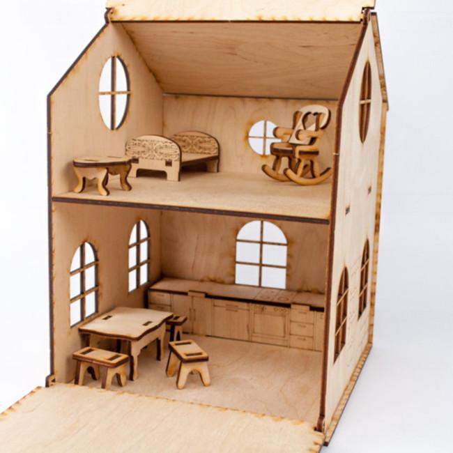 Дерев'яний ігровий будиночок-конструктор