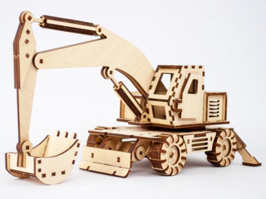 Дерев'яний конструктор «Екскаватор»