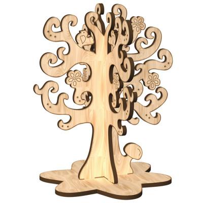 Дерев'яна розмальовка «Дерево бажань»