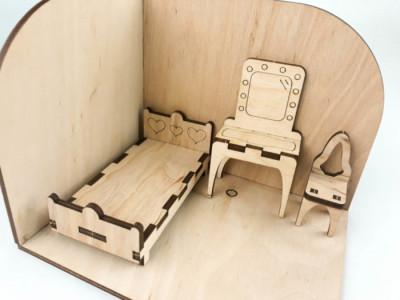 Спальня. Дерев'яний 3D конструктор