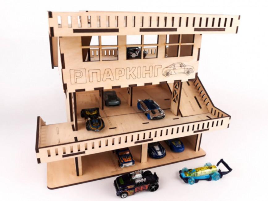 Паркінг для машинок. 3D конструктор